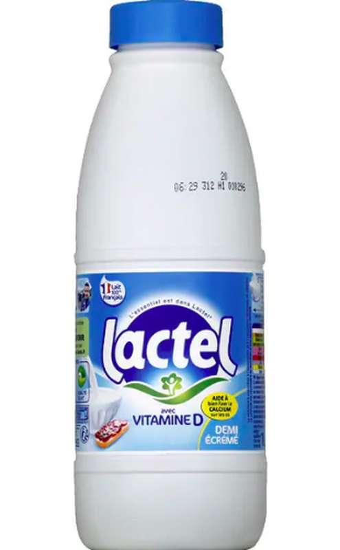 Lait UHT demi écrémé, Lactel (1 L)