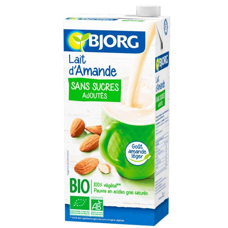 Lait d'amande sans sucres ajoutés BIO, Bjorg (1 L)