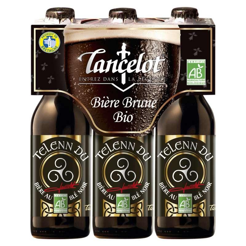 Pack de Lancelot Telenn Du brune BIO, 4,5° (3 x 33 cl)