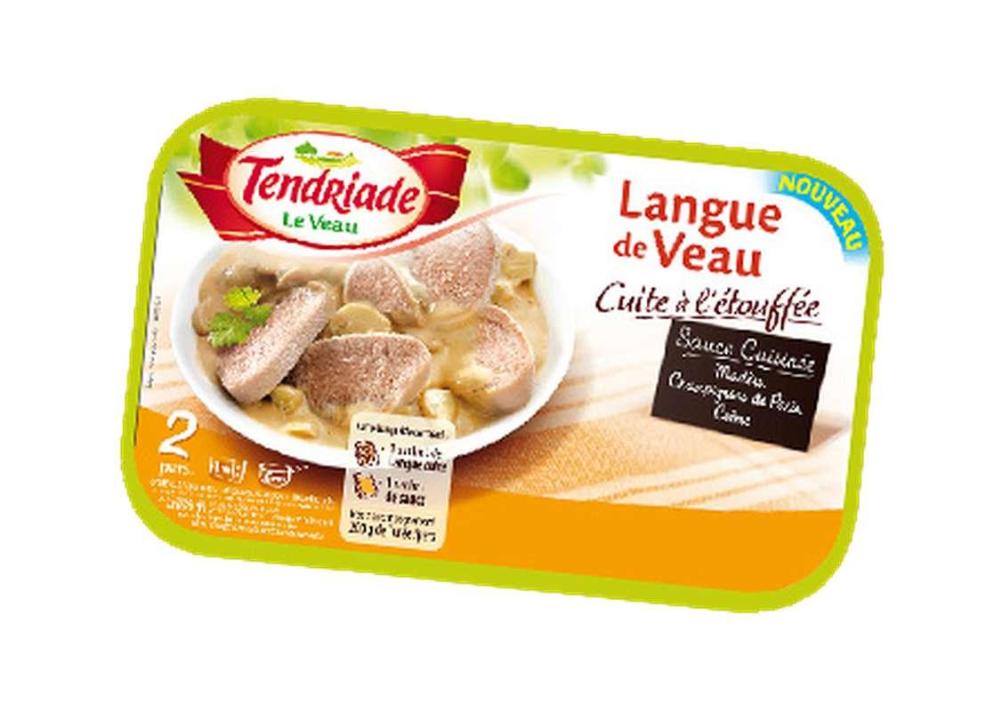 Langue de veau sauce Madère cuite à l'étouffée, Tendriade (300 g)