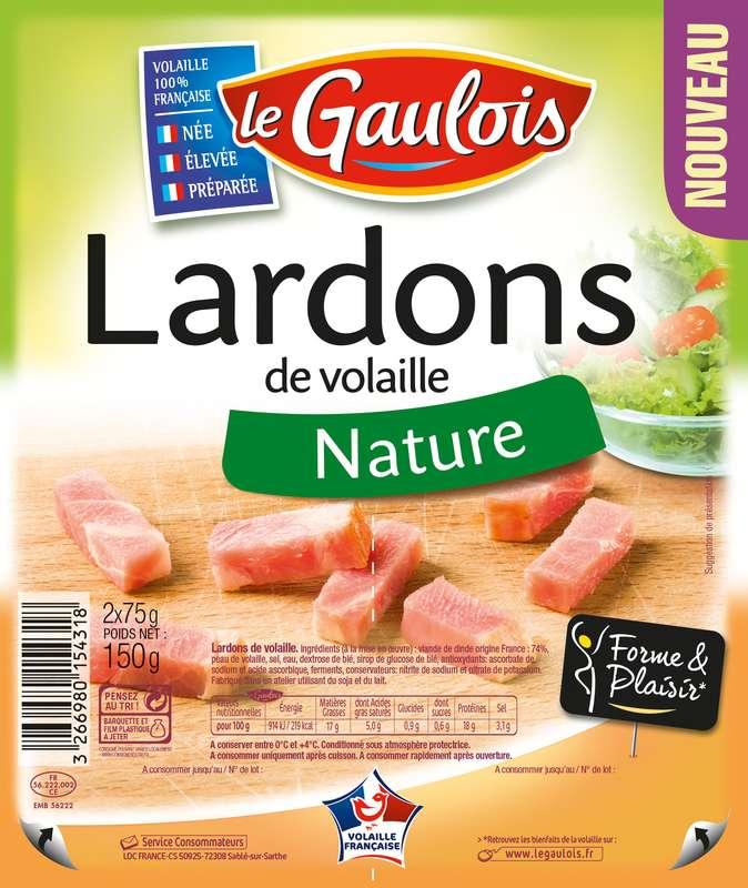 Lardons de volaille nature, Le Gaulois (2 x 75 g)