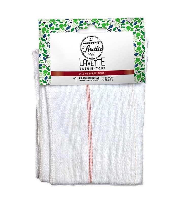 Lavette essuie-tout en fibres recyclées, La droguerie d'Amélie (x 1)