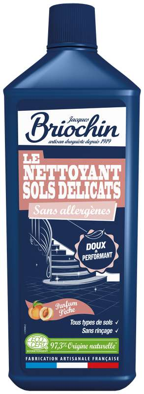 Le nettoyant sols délicats parfum pêche, Briochin (1 L)