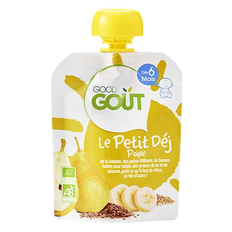 Le Petit Déj' Poire BIO - dès 6 mois, Good Goût (70 g)