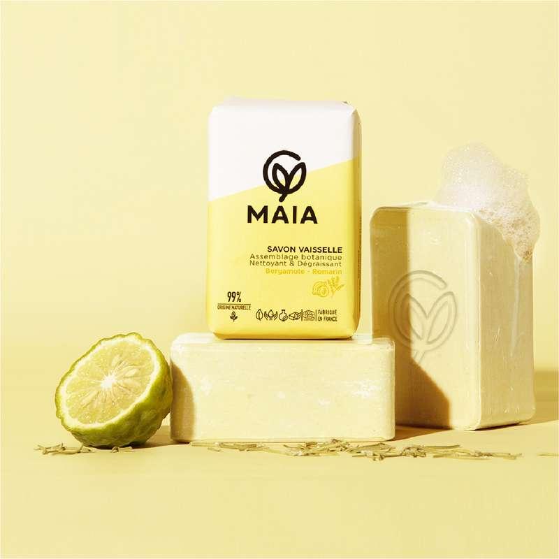 Le savon vaisselle bergamote et romarin, Maia (200 g)