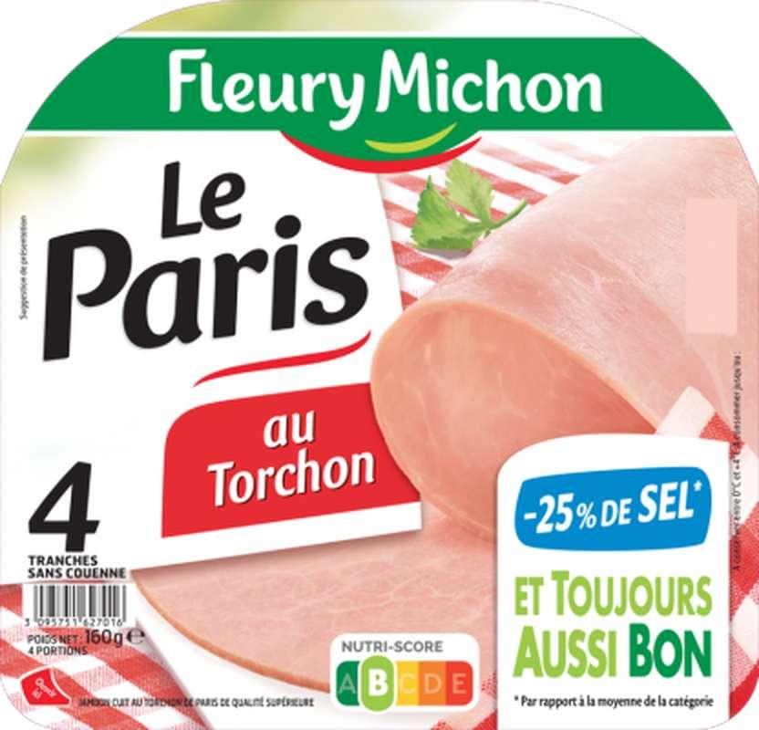 Jambon Le Paris -25% de sel, Fleury Michon (4 tranches, 160 g)