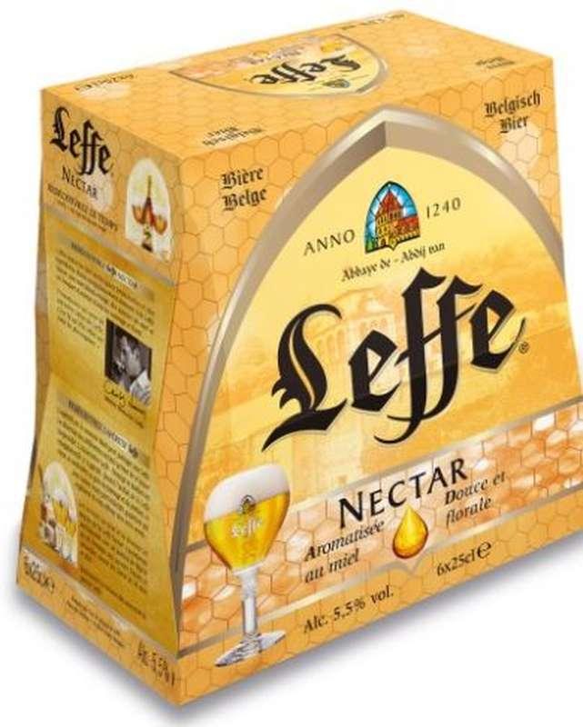 Pack de Leffe Nectar bière au miel, 5,5° (6 x 25 cl)