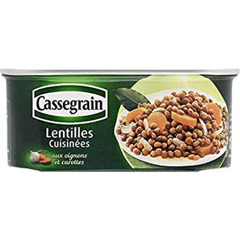 Lentilles cuisinées, Cassegrain (200 g)