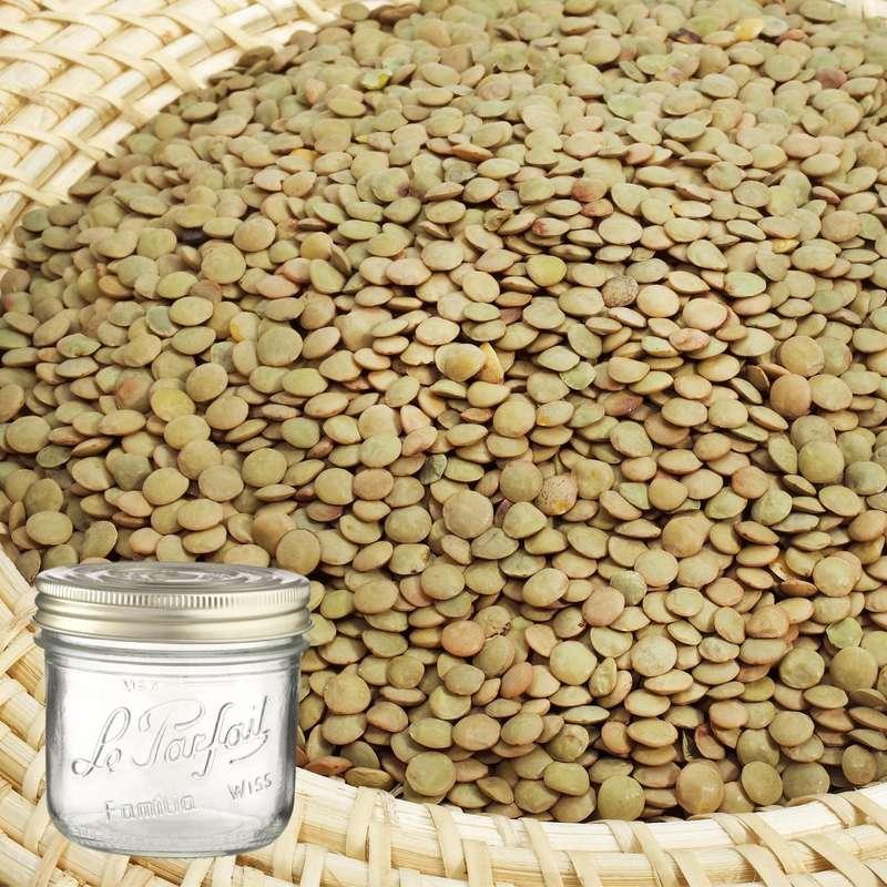 Lentilles blondes BIO bocal consigné / 2,5€ récupérable (620 g)