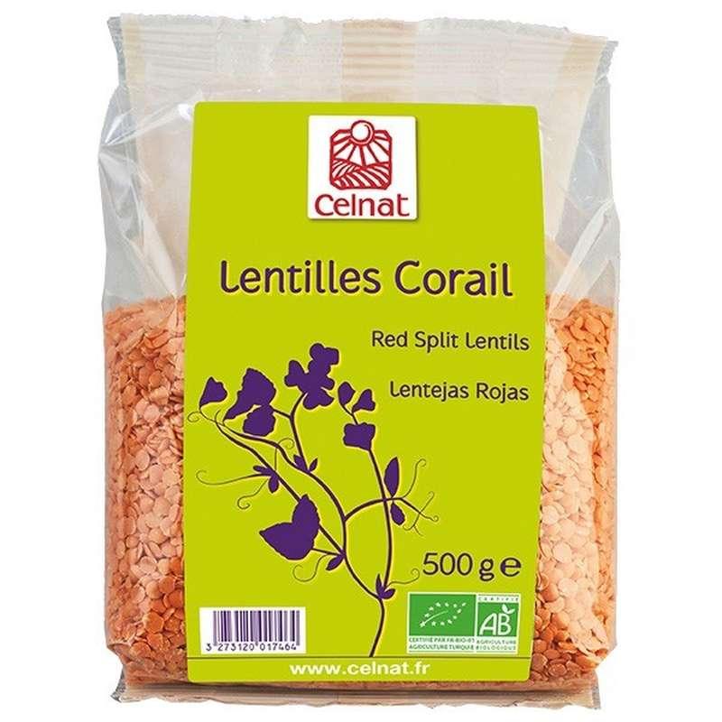 Lentilles corail BIO, Celnat (500 g)