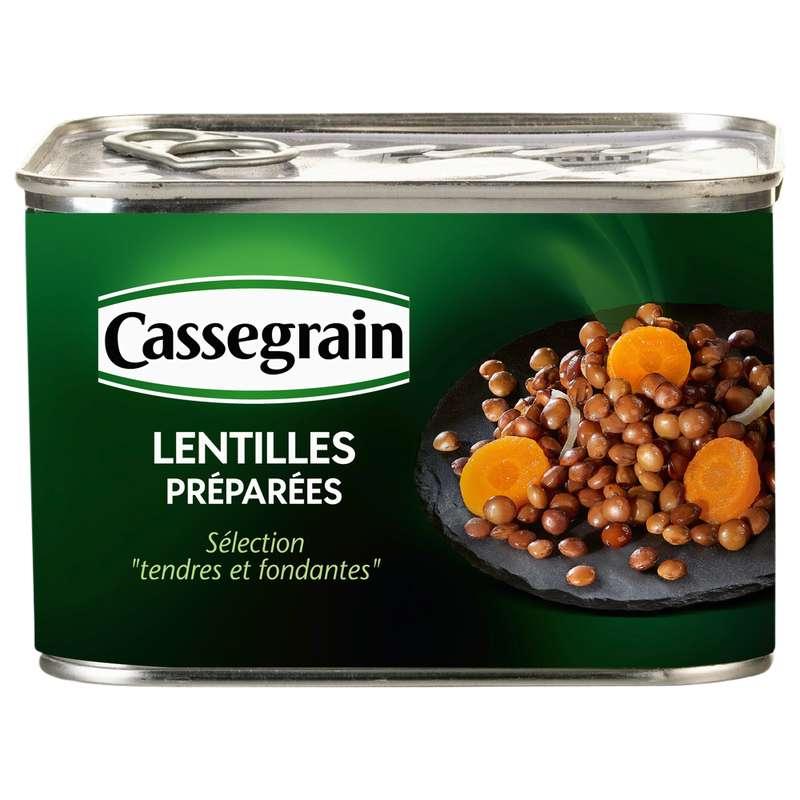 Lentilles cuisinées, Cassegrain (460 g)