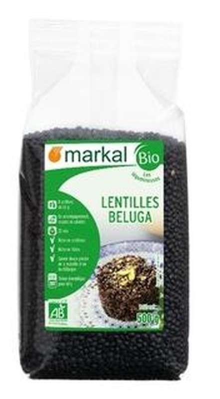Lentilles noires Beluga BIO, Markal (500 g)