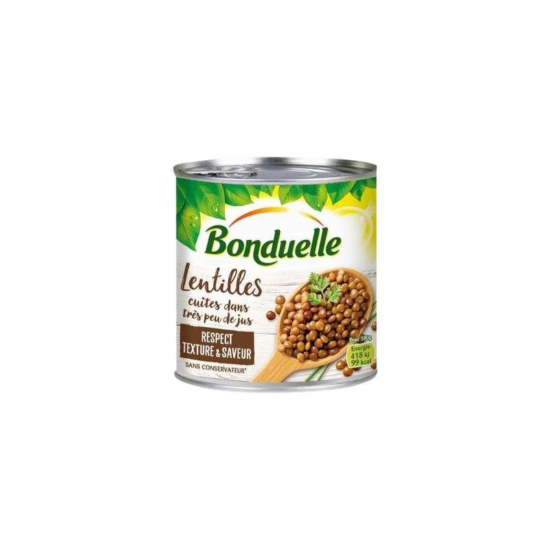 Lentilles très peu de jus, Bonduelle (265 g)