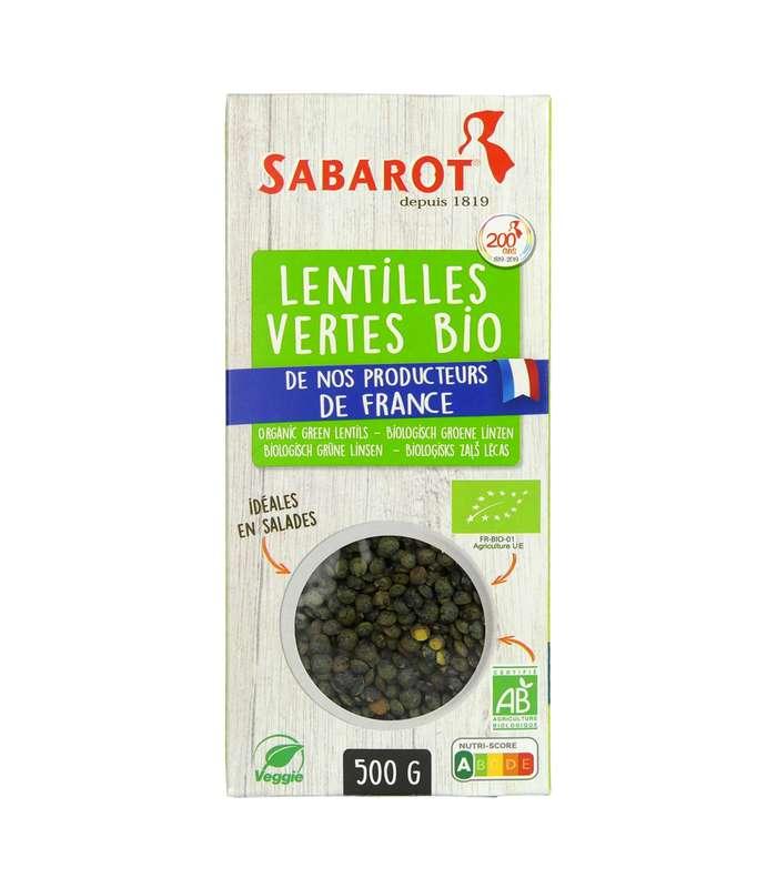 Lentilles vertes BIO de nos producteurs de France, Sabarot (500 g)