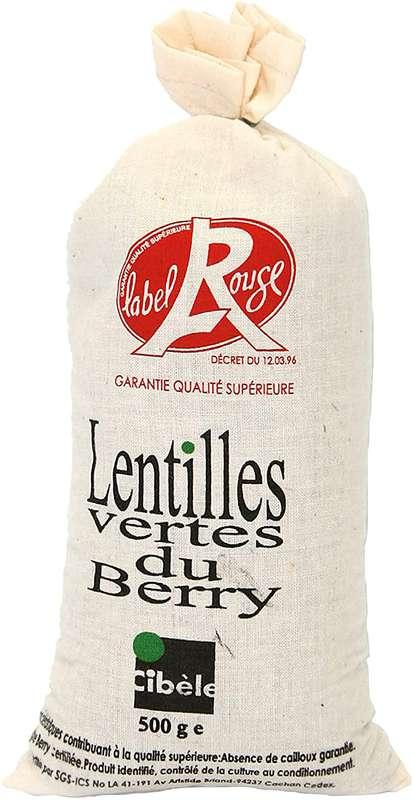 Lentilles vertes du Berry Label Rouge - sachet en toile (500 g)