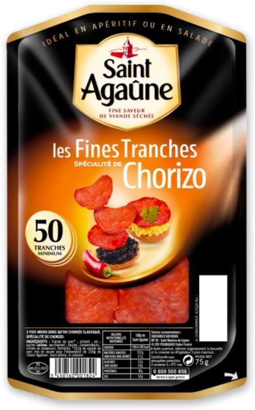 Les Fines tranches de Chorizo, St Agaûne (75 g)