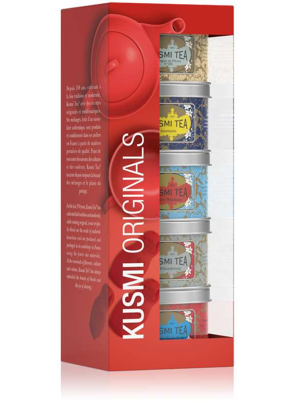 Les Russes Kusmi Originals assortiment boîtes metal, Kusmi Tea (x 5, 125 g)