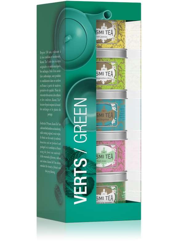Les Verts assortiment boîtes métal, Kusmi Tea (x 5, 125 g)