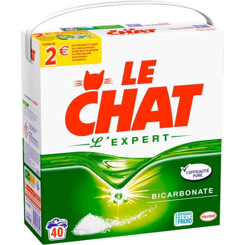 Lessive en poudre L'Expert, le Chat (2, 6 kg = 40 lavages)