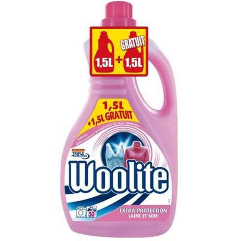 Lessive laine et soie, Woolite OFFRE SPECIALE (1,5 L + 1,5 L offert)