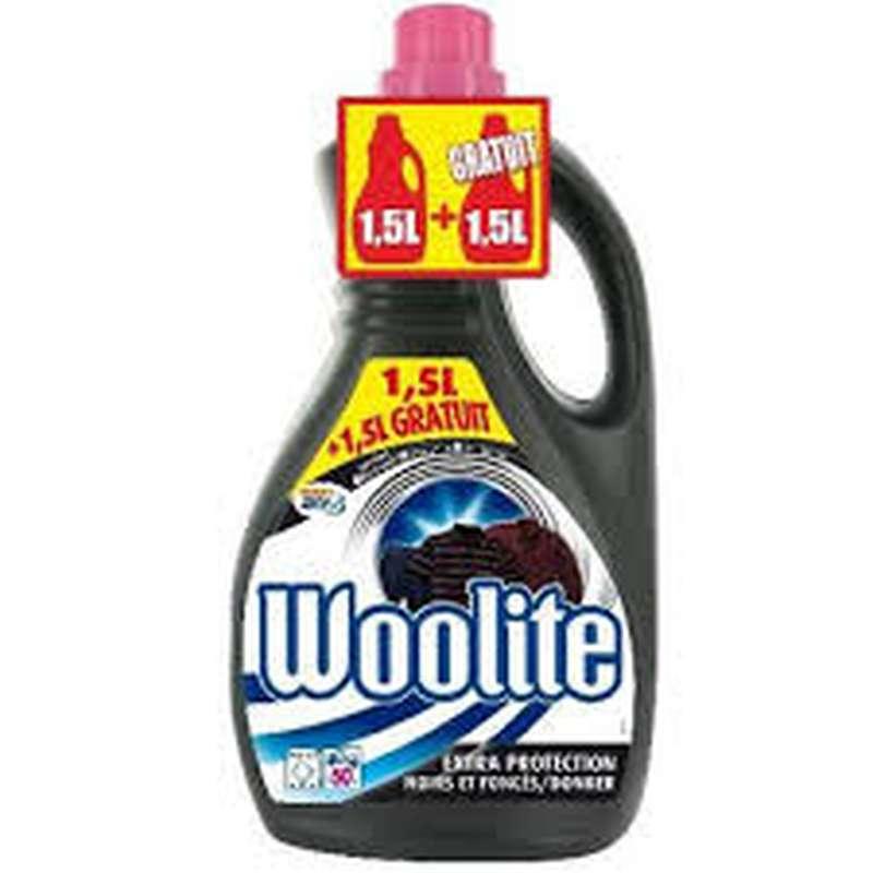 Lessive pour vêtements noirs & foncés, Woolite (x 50 lavages, 1.5 L + 1.5 L gratuit)