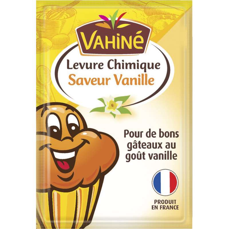 Levure chimique saveur vanille, Vahiné (5 x 8 g)