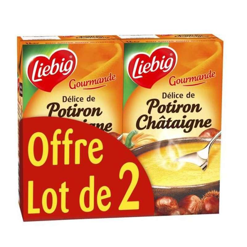 Soupe délice de potiron châtaigne, Liebig LOT DE 2 (2 x 1 L)