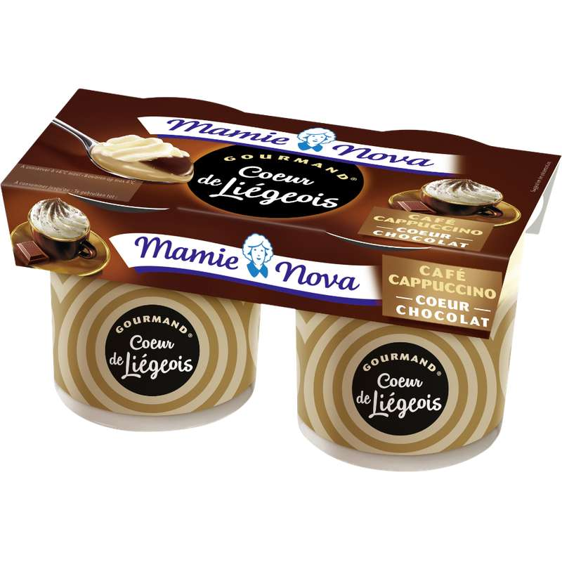 Liégeois Café coeur Chocolat, Mamie Nova (2 x 120 g)