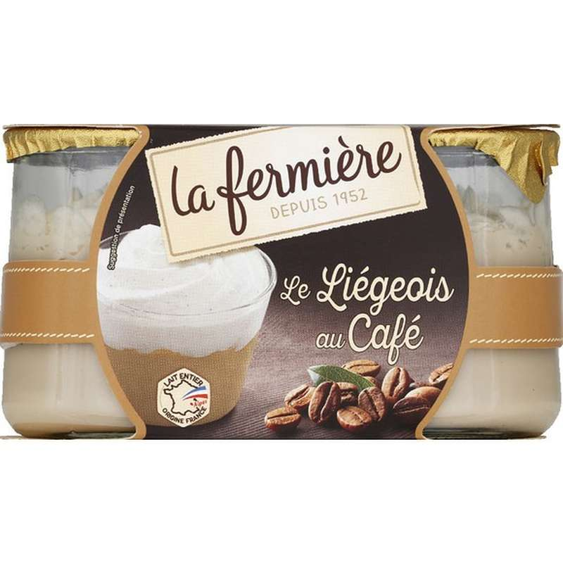 Liégeois au café, La Fermière (2 x 130 g)