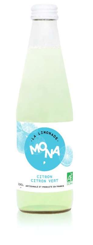 Limonade Citron-Citron Vert BIO, Mona (33 cl)