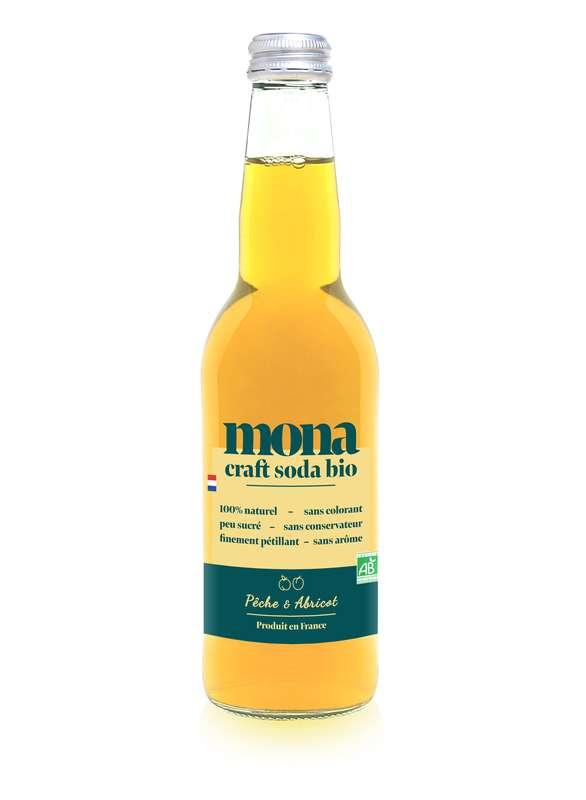 Limonade Pêche-Abricot BIO, Mona (33 cl)
