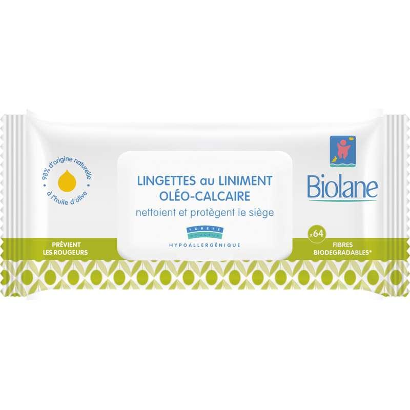 Lingette au liniment oléo-calcaire BIO, Biolane (x 64)