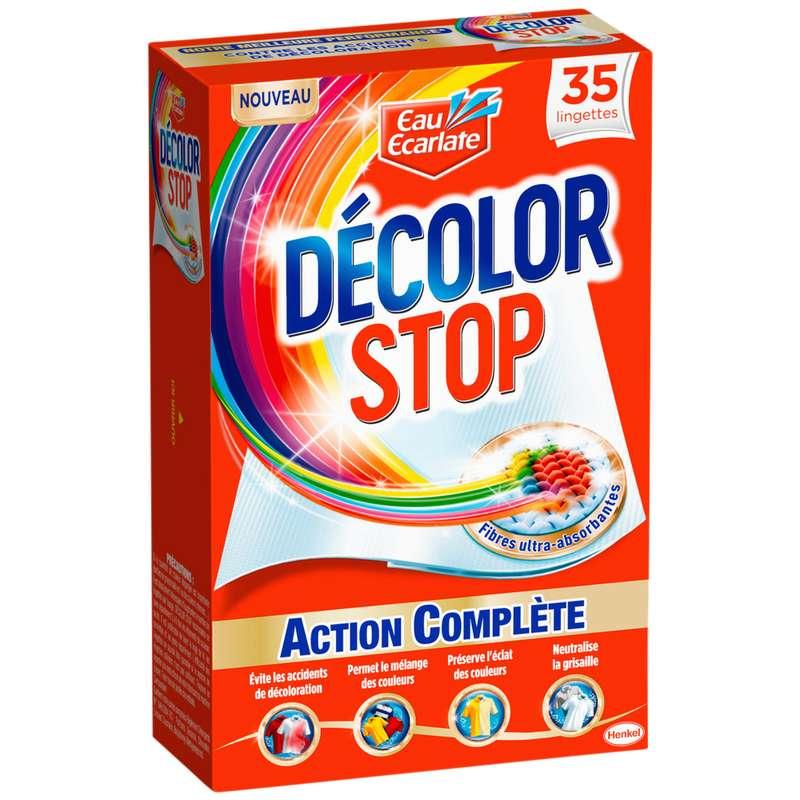 Lingettes Décolor Stop, Eau Ecarlate (x 35)