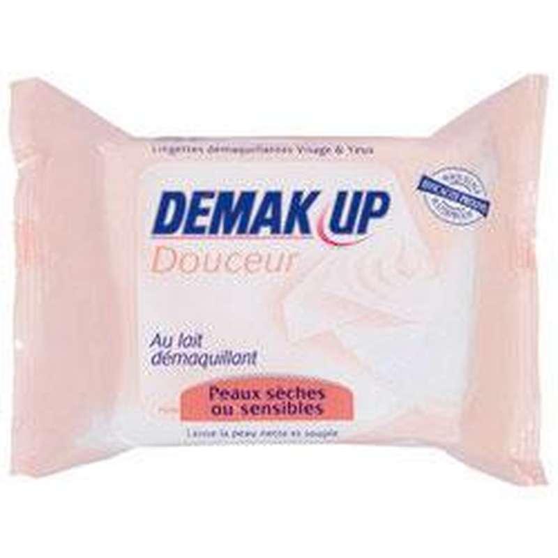 Lingettes au lait pour peau sensibles/sèche, Demak'up (x 25)