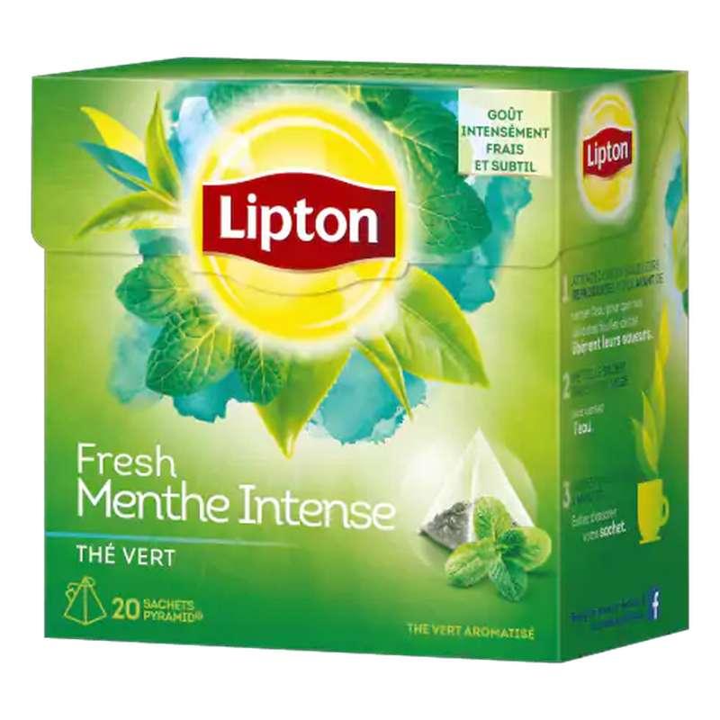 Thé vert menthe intense, Lipton (20 sachets)
