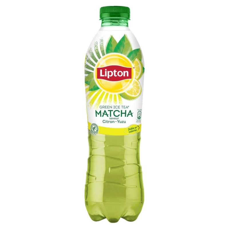 Green ice tea matcha saveur citron yuzu, Lipton (1 L)