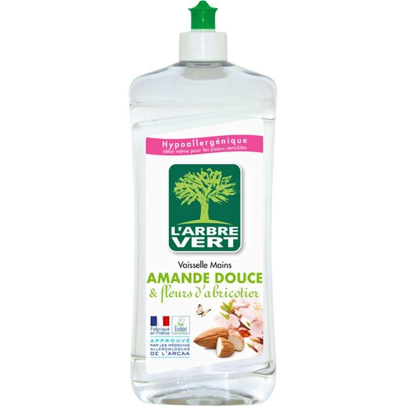 Liquide vaisselle à l'amande douce et fleur d'abricotiers, L'Arbre Vert (750 ml)