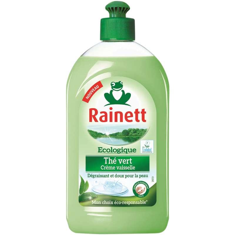 Crème vaisselle écologique thé vert, Rainett (500 ml)