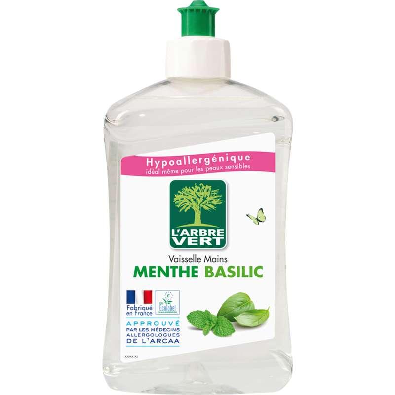 Liquide vaisselle et mains concentré menthe-basilic, L'arbre Vert (500 ml)