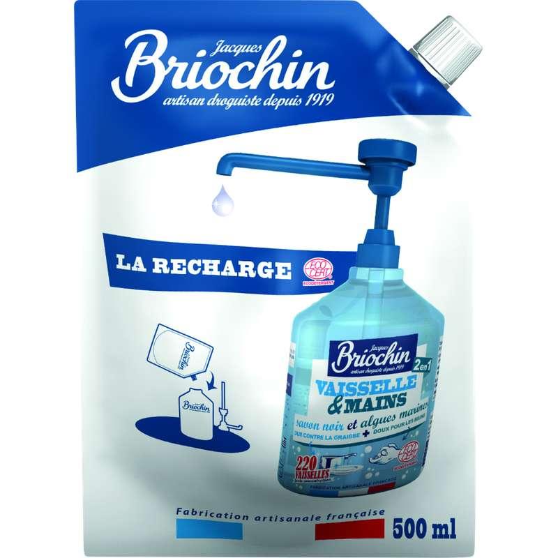 Liquide vaisselle et mains écocert recharge, Briochin (500 ml)