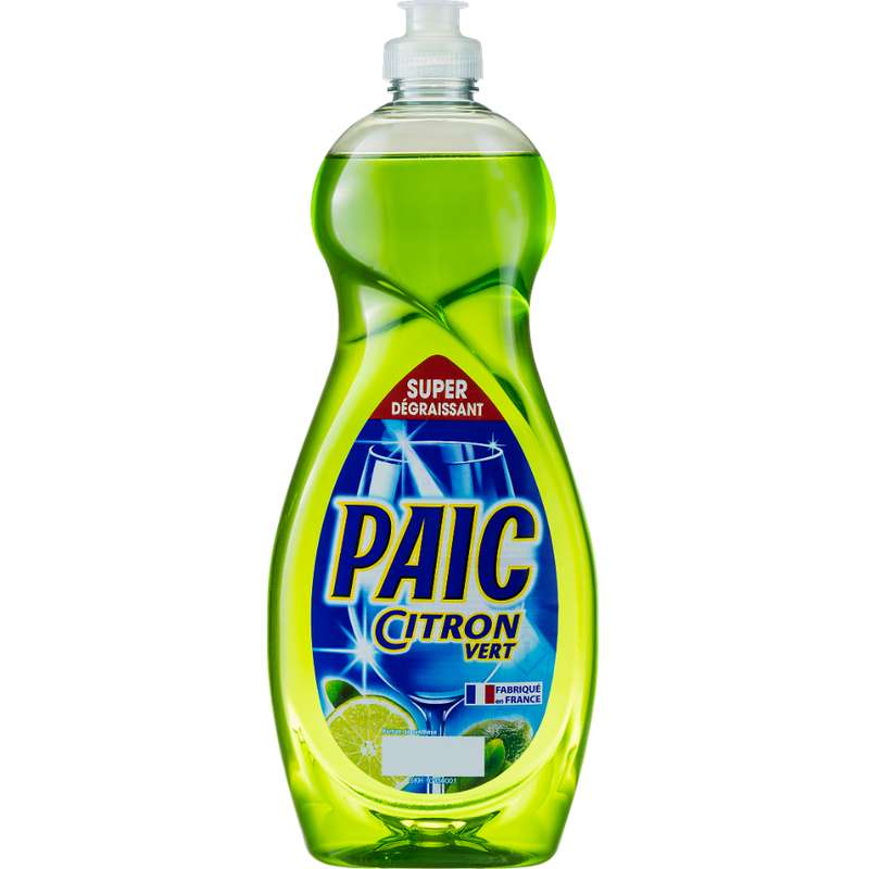 Liquide vaisselle parfum citron vert, Paic (750 ml)