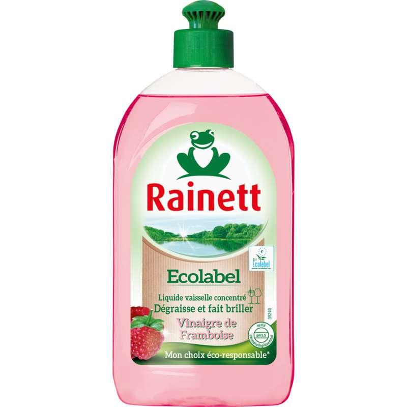Liquide vaisselle concentré Ecolabel Vinaigre de Framboise, Rainett (500 ml)