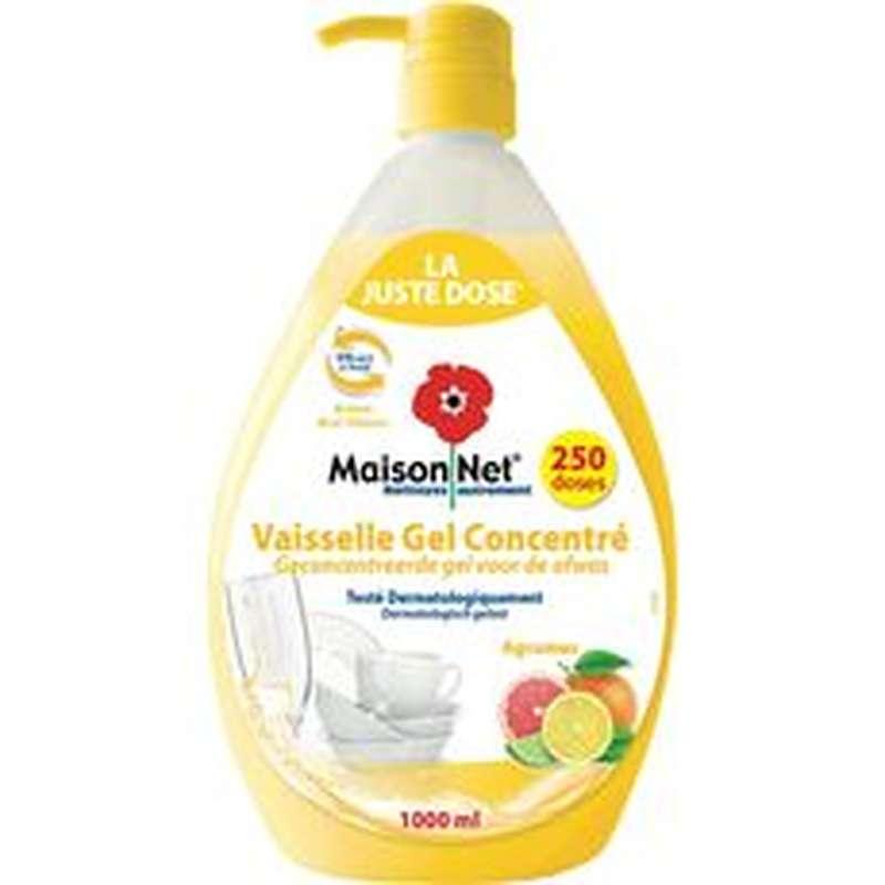 Liquide vaisselle anti-odeurs agrumes, Maison Net (1 L)