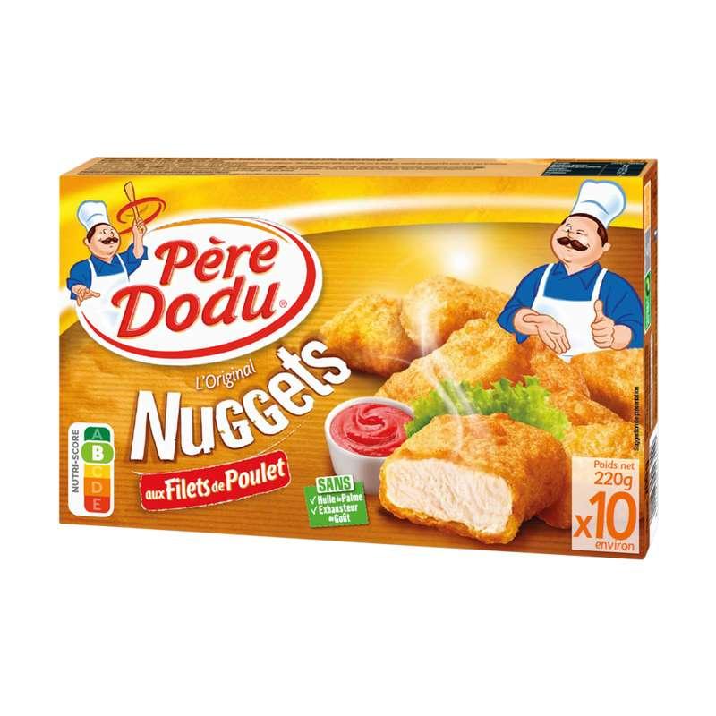 Nuggets aux filets de poulet, Père Dodu (x 10, 220 g)