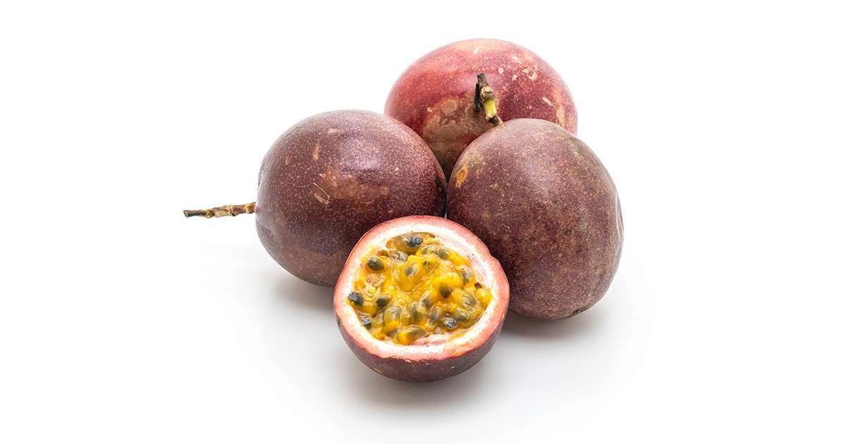 Lot de 4 fruits de la passion (calibre moyen), Colombie