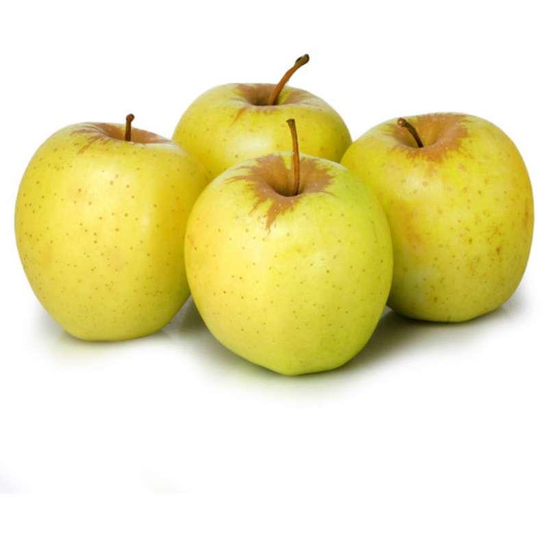 Lot de 4 pommes jaunes Golden DEMETER BIO (calibre moyen), France