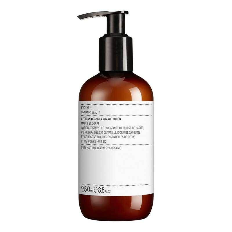 Lotion corporelle aromatique à l'orange africaine BIO, Evolve (250 ml)