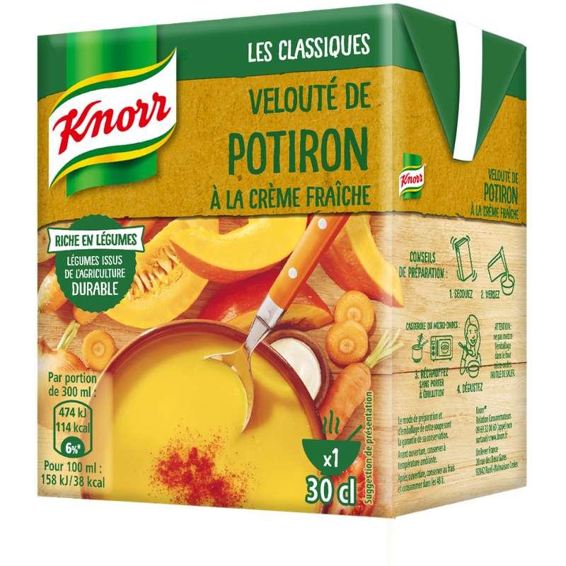 Velouté de potiron à la crème fraiche, Knorr (30 cl)