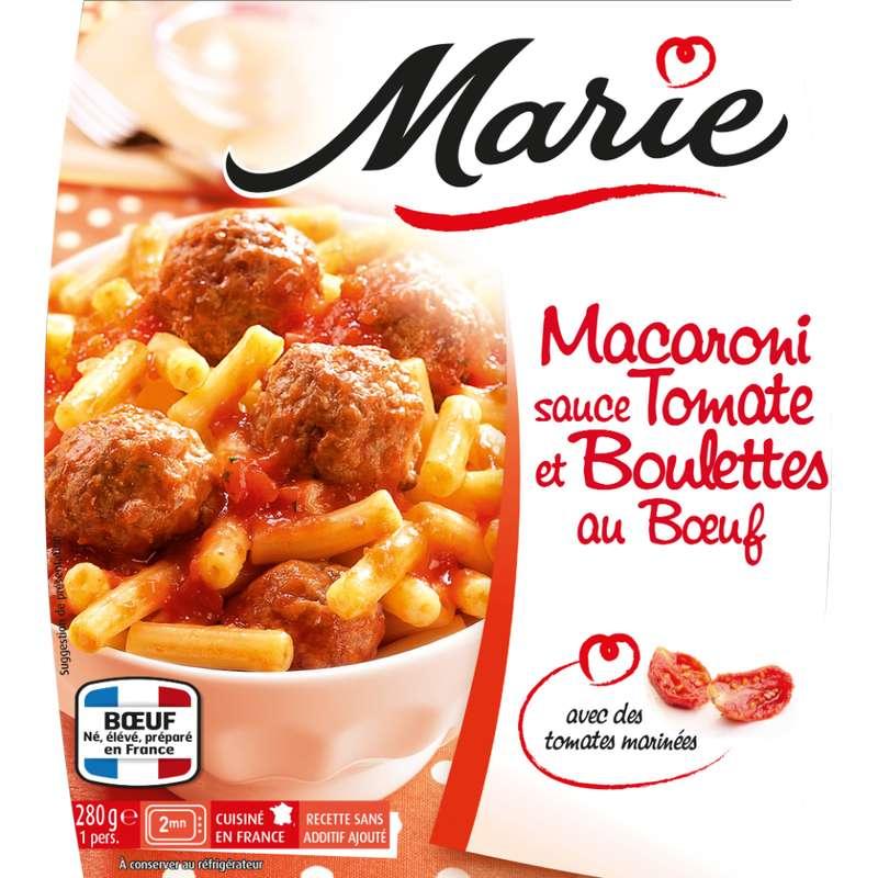 Macaroni sauce tomate boulettes de viande, Marie (280 g)
