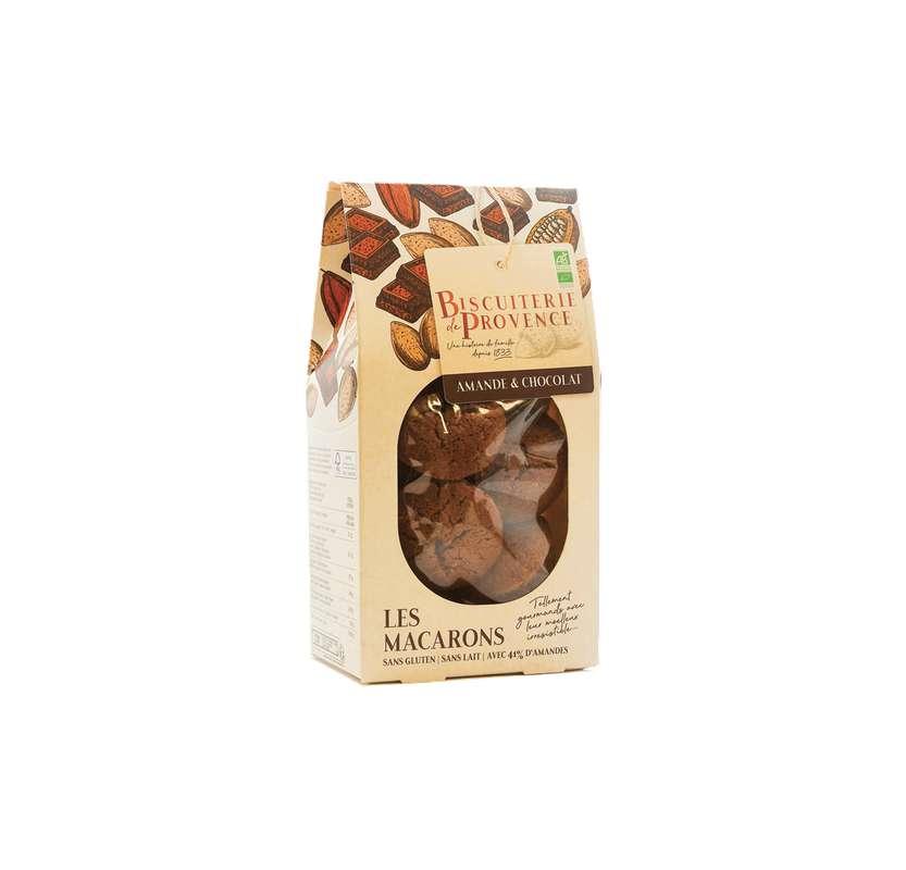 Macarons chocolat BIO Sans Gluten, Biscuiterie de Provence (130 g)